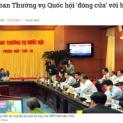 Cấm báo dự họp của Ủy ban Thường vụ Quốc hội để làm gì?