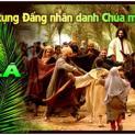 Hình ảnh Chúa Giêsu ngày lễ Lá