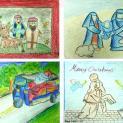 DCCT Thái Lan: Thiếu nhi ở Trung tâm Lòng Thương Xót vẽ tranh Giáng Sinh