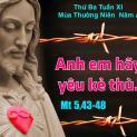 19/06 Các ngươi hãy yêu thương thù địch